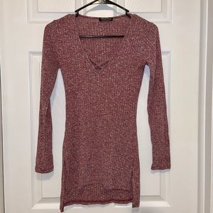 Fashion Nova Long Sleeve Sweater Tunic Top
